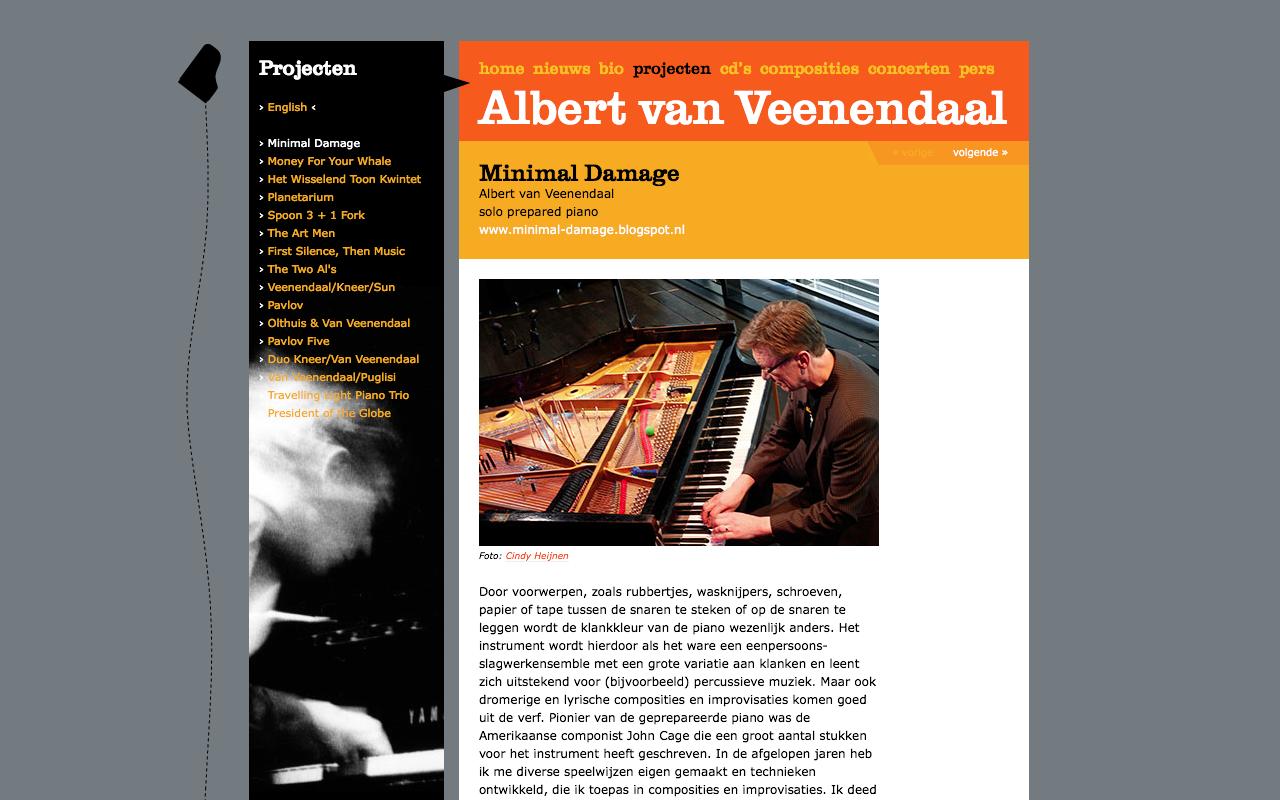 Albert van Veenendaal - Projecten - desktop