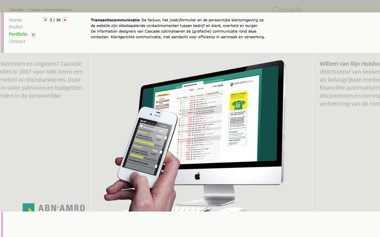 Cascade - Transactiecommunicatie - desktop