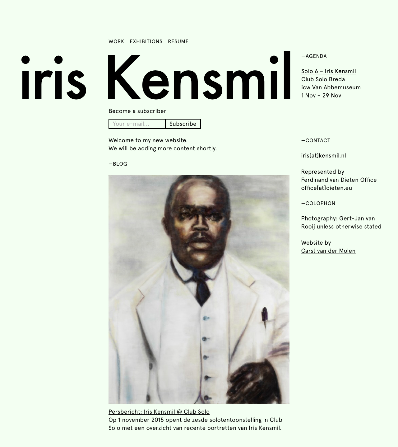 Iris Kensmil - Home - Desktop